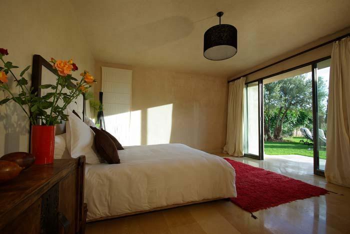 Bedroom with garden access in Marrakech