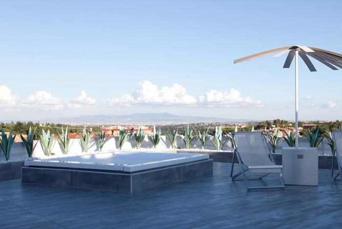 Penthouse terrace Rome