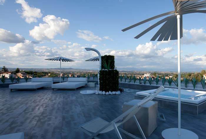 Roof terrace Penthouse in Rome
