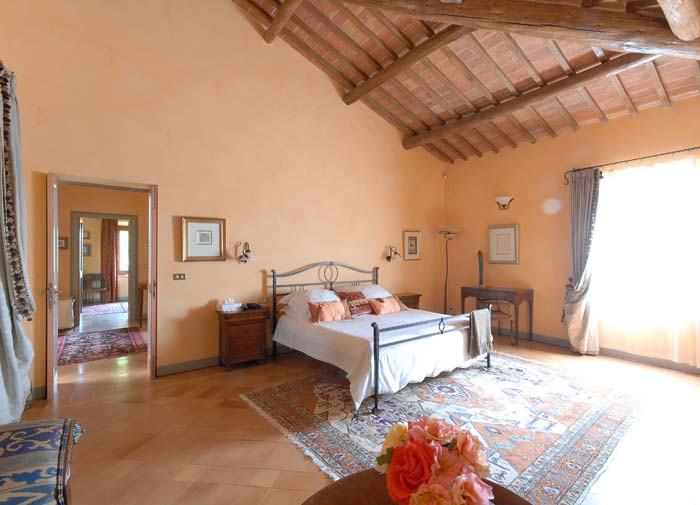 Bedroom Luxury country estate Tuscany Italy