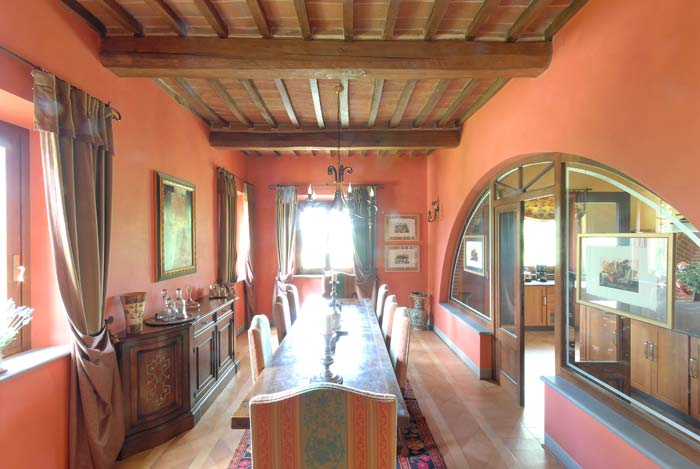 Dining room - Luxury country estate Tuscany Italy
