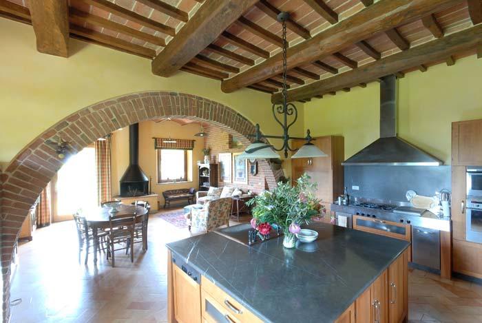 Kitchen luxury country estate Tuscany Italy