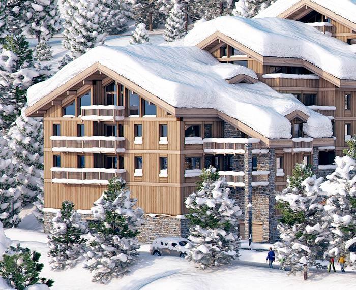 ski apartments courchevel
