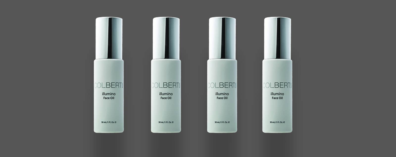4 bottles illumino face oil by colbert md