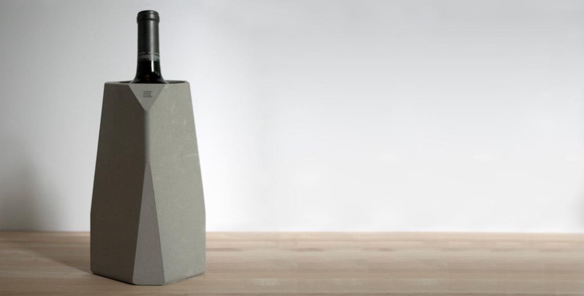 Corvi concrete wine cooler - IntoConcrete