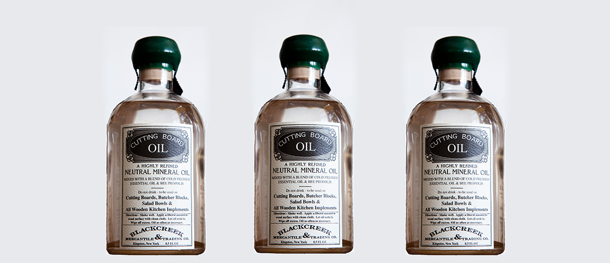 Blackcreek mercantile cutting board oil