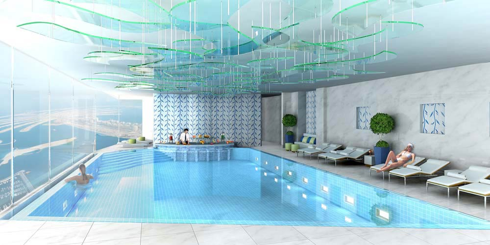 Pentominium-indoor-swimming-pool-above-500-mts-overlooking-the-Palm