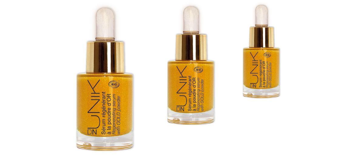 3 bottles of DN UNIK gold serum