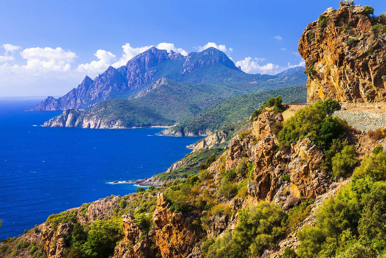 View of Corsica's coast line