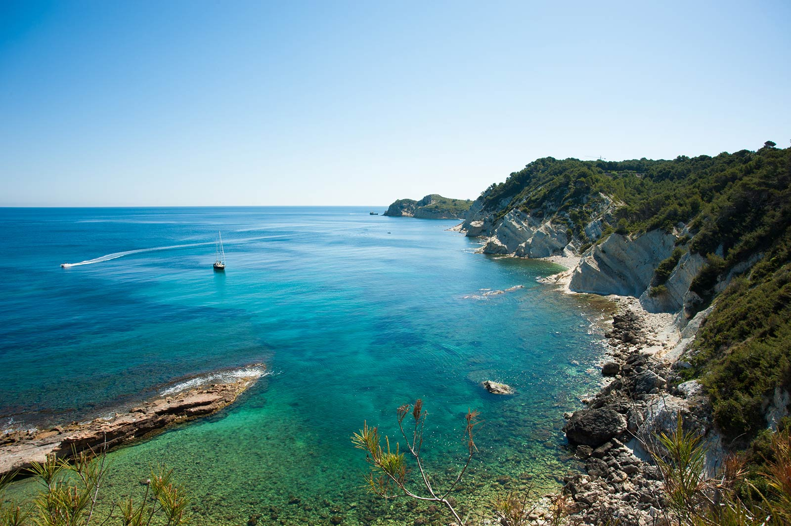 Costa Blanca coast line
