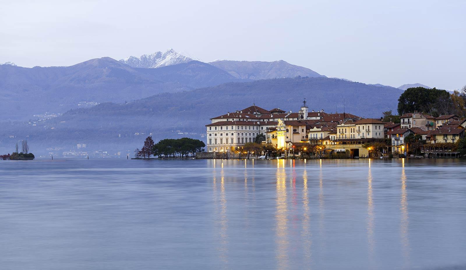 Italian Lakes at dusk