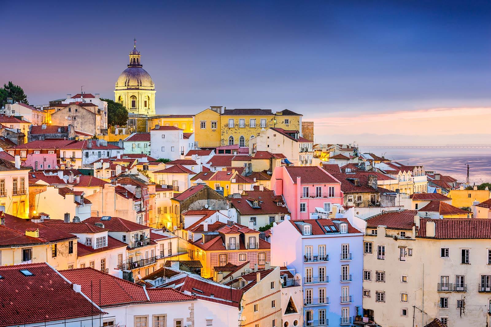Aerial of Lisbon Portugal
