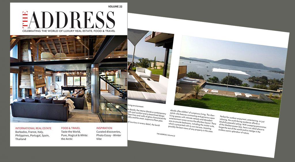 Front cover and a double page spread from volume 22 of The Address Magazine