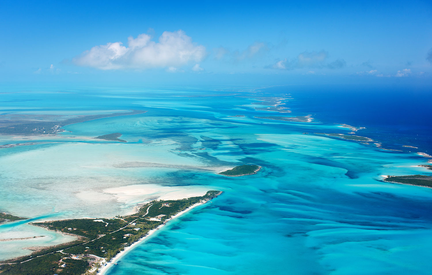 Aerial of Bahamas Islands