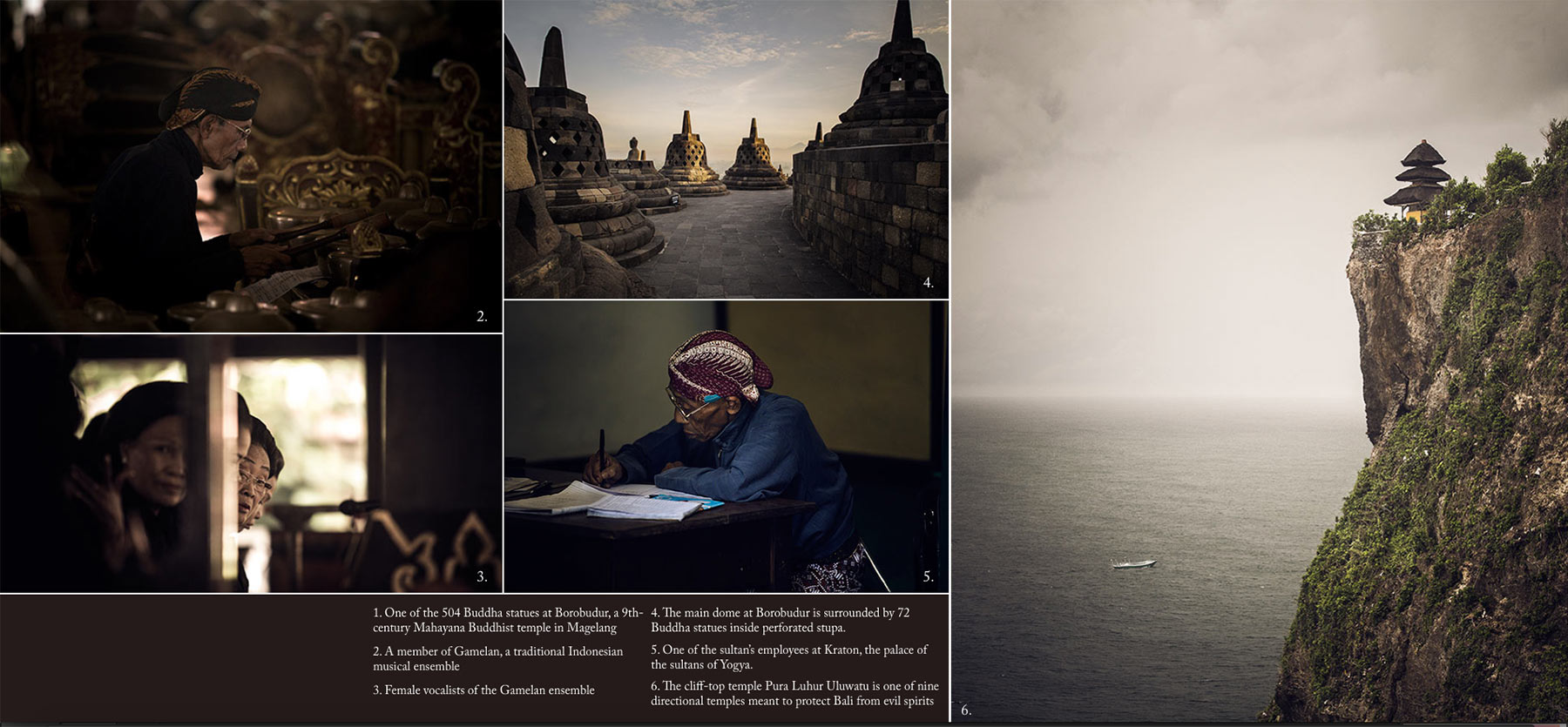 Collage of various images from Indonesia