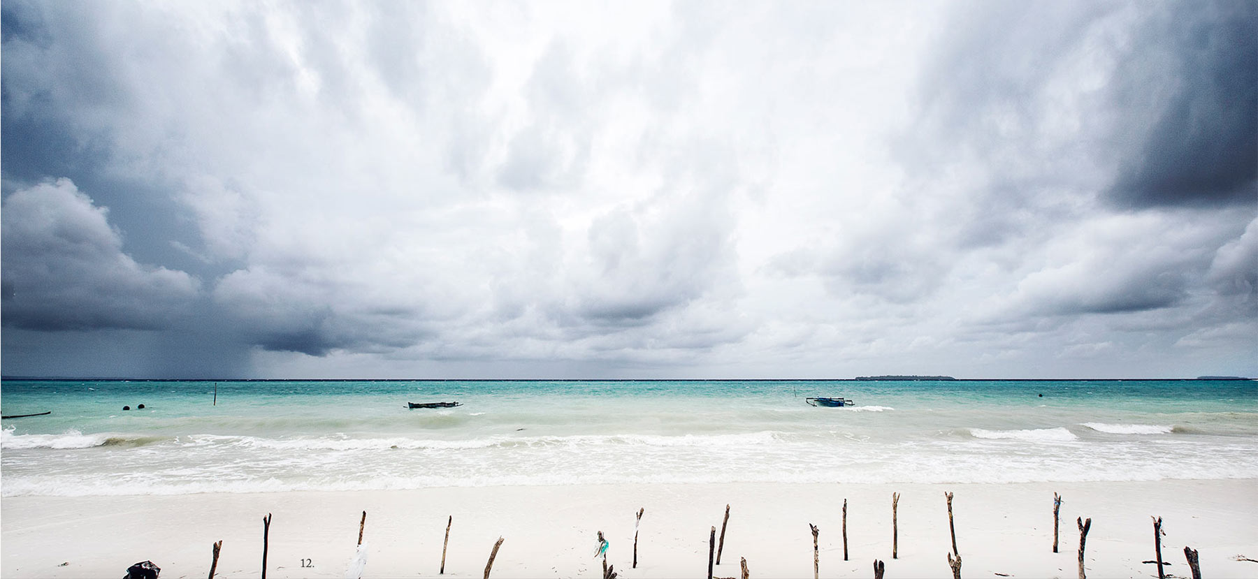 the undeveloped Kei archipelago in Indonesia offers white sandy beaches that stretch for kilometres and not a single person in sight