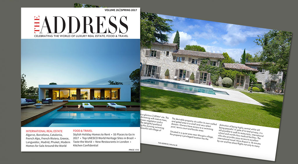 Luxury real estate magazine The Address cover issue 26