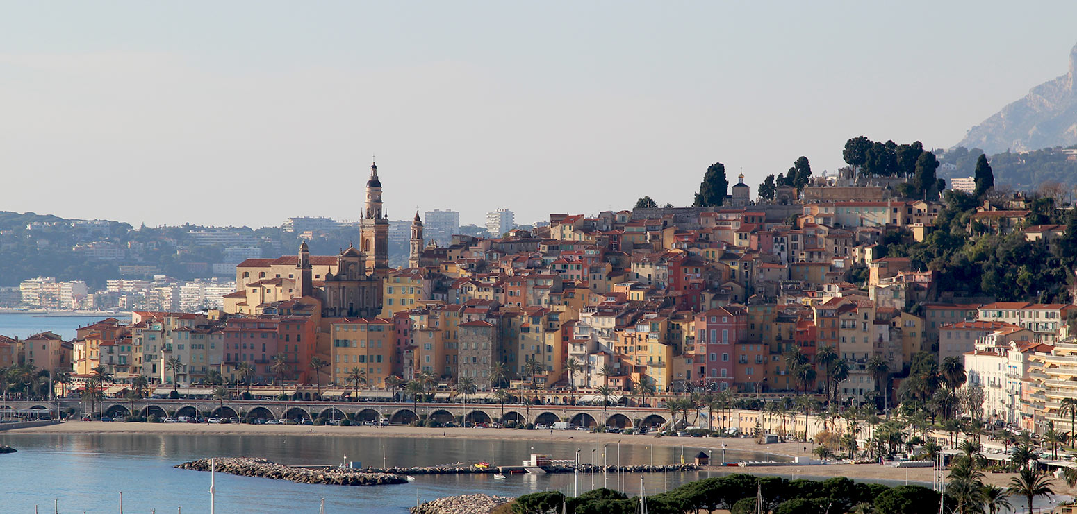 The old town of Menton on the French Riviera