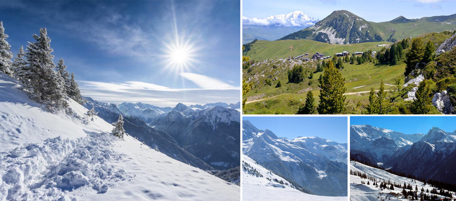 Images from Montchavin - La Plagne in winter as well as in the summer
