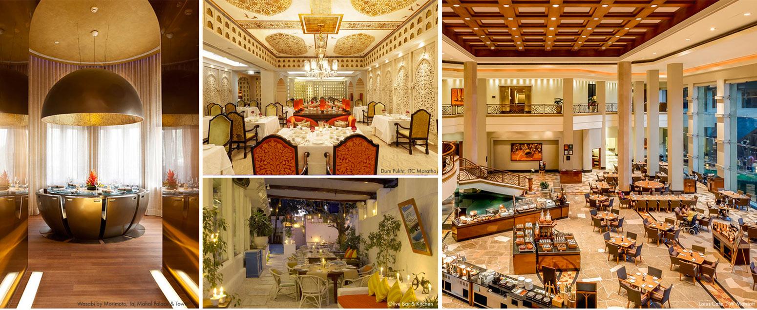 Best dining in Mumbai - Wasabi by Morimoto, Taj Mahal, Dum Pukht, ITC Maratha, Olive Bar & Kitchen, Lotus Cafe, J W Marriott