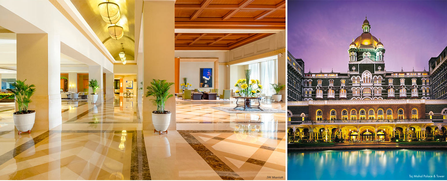 Best hotels in Mumbai Taj Mahal Palace & Tower and JW Marriott featured in The Address Magazine
