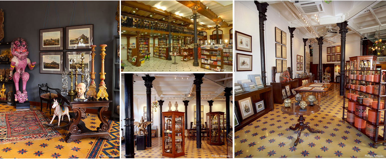 Best shopping in Mumbai at Phillips Antiques and books at Kitab Khana