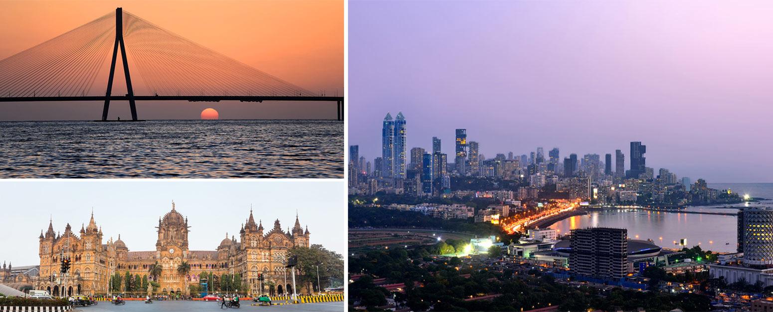 3 images of Mumbai India