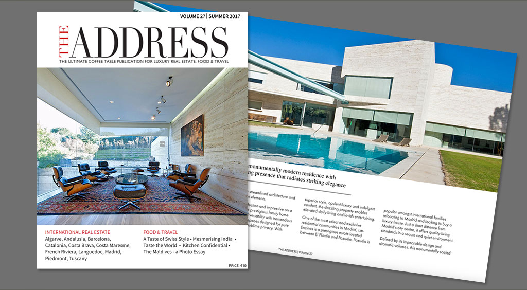 The Address Magazine Volume 27 - Cover page and double page spread