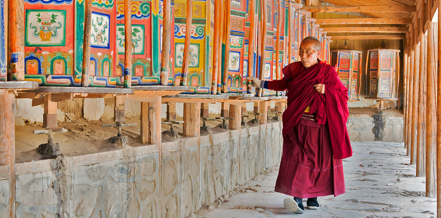 Monk at Labrang Monastery in Xiahe, Gansu, China