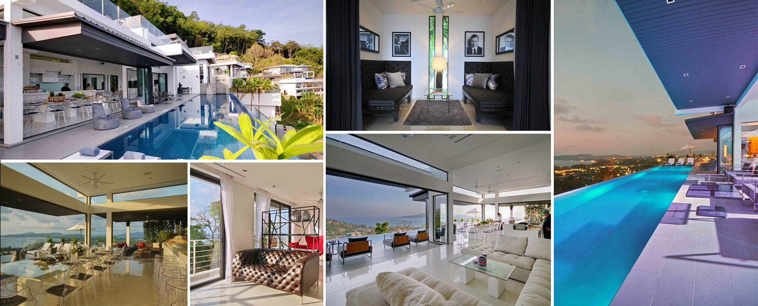 Image collage modern villa Surin beach