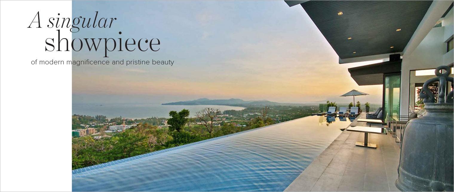 Magazine spread The Address - showpiece property phuket