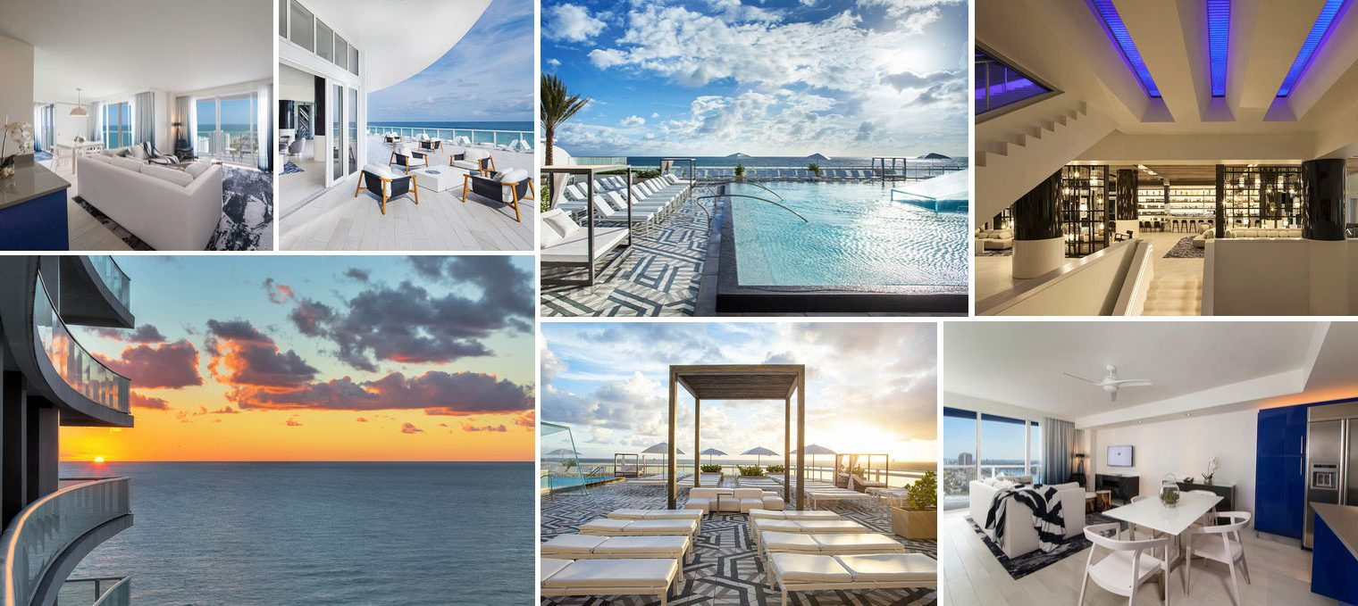 Collage of images from W Residences Fort Lauderdale