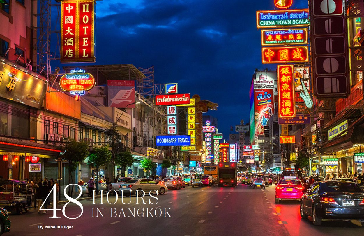 The Address magazine spread for Bangkok in 48 hours