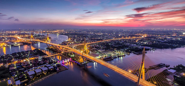 Aerial of Bangkok