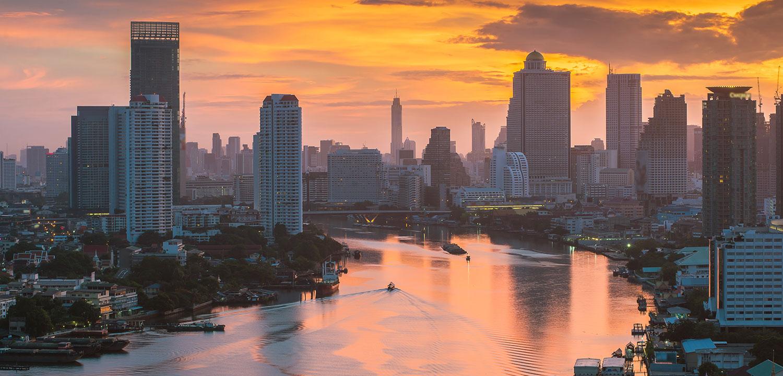 Bangkok skyline in early morning