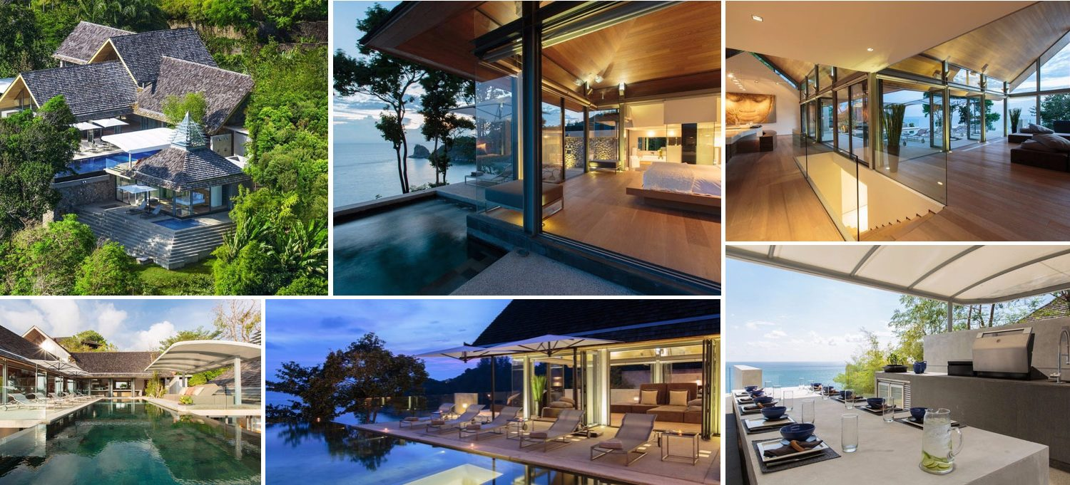 Image collage of luxury villa for sale in Phuket