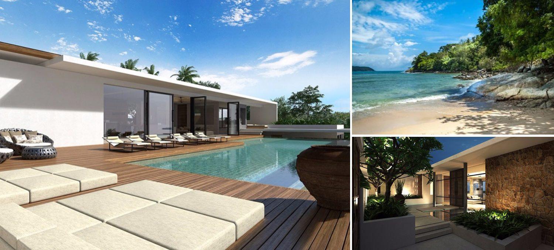Collage of new villa in Kamala Phuket