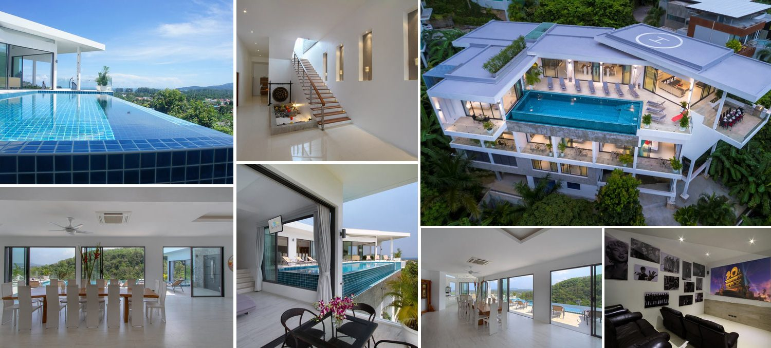Image composition of contemporary villa for sale in Surin Phuket