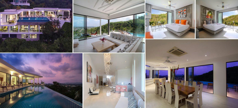Sleek modern villa in Surin Phuket - image collage