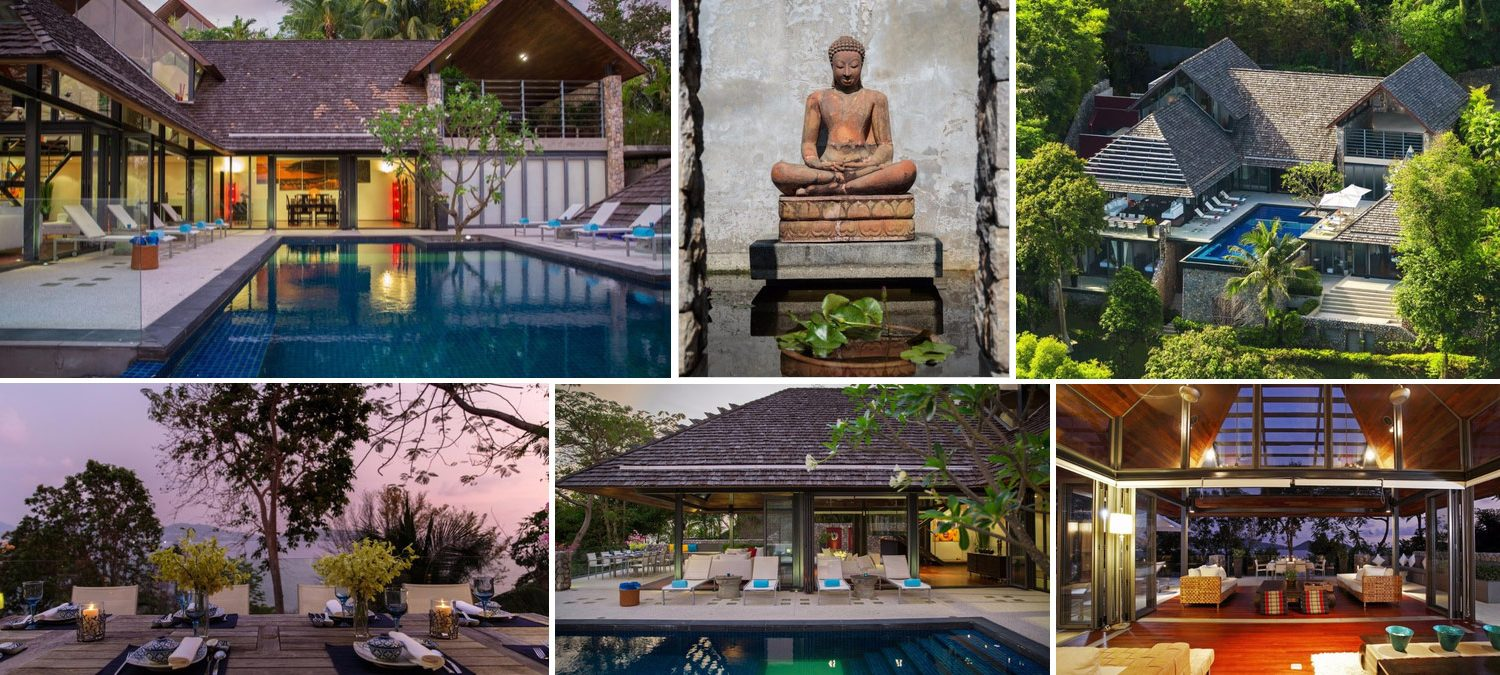 Image collage of sophisticated villa for sale in Kamala Phuket