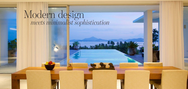 Dining room in Baan Yamu villa Phuket - The Address Magazine article