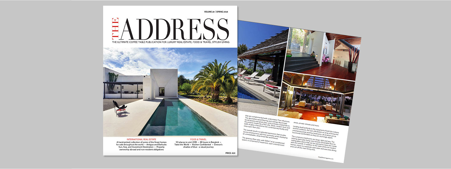 The Address Magazine issue 29 cover and spread