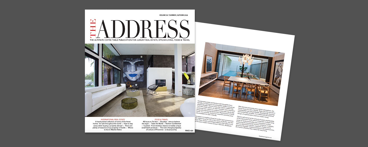 The Address Magazine issue 30 cover and spread