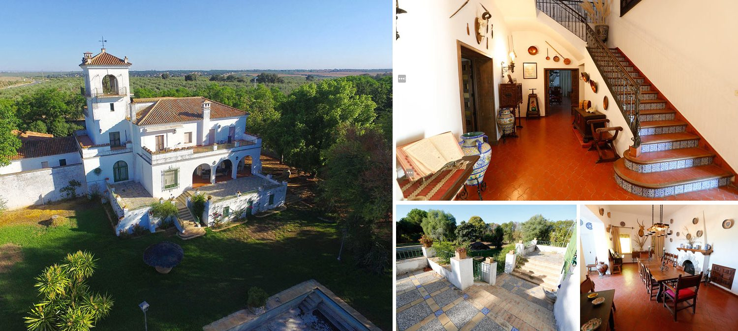 Image composition country house in Andalusia