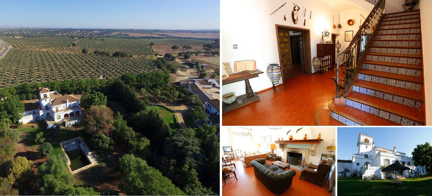 Collage of images of country house in Andalusia