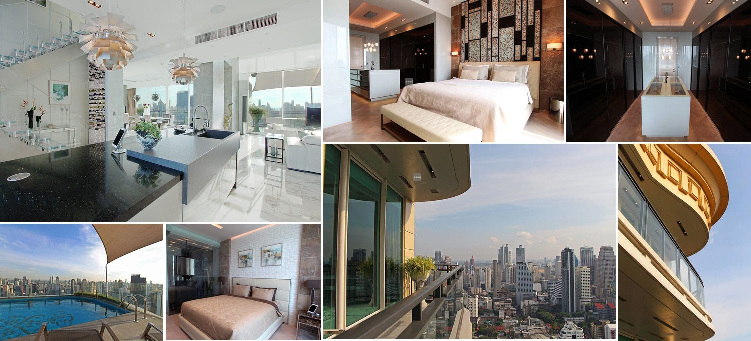 Image composition of exclusive penthouse in Bangkok Thailand