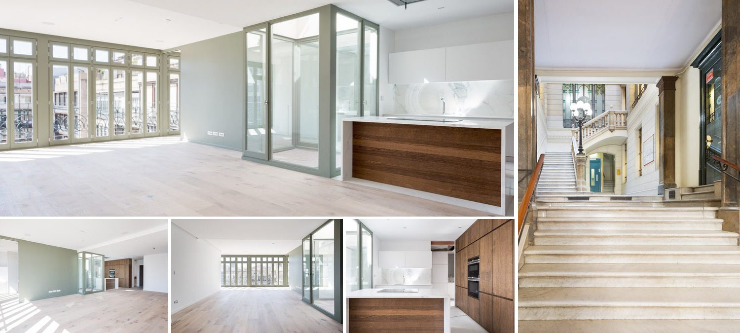 Image collage apartment in Barcelona
