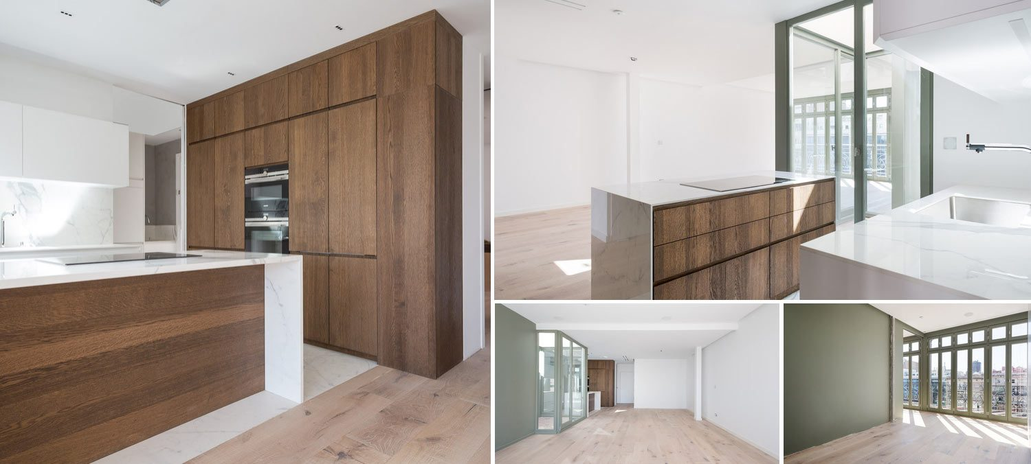 Gallery of interiors from newly refurbished apartment in Eixample Barcelona