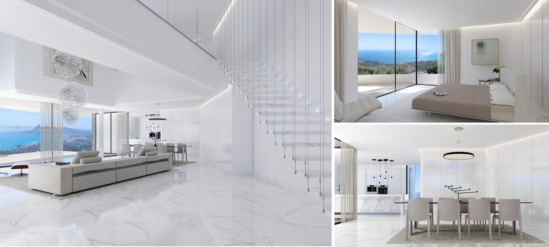 Image collage of modern Costa Blanca villa