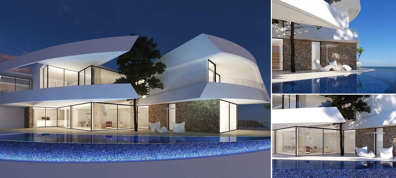 Modern costa-blanca villa collage